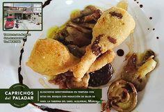 ¡ por fin es viernes ! y es por ello que te compartimos esta Receta de La Taberna del Saro, en Alquerías (Murcia), que tiene una pinta impresionante :  Alcachofas Mediterráneas de Caprichos del Paldadar en Tempura, con Setas del Bosque y reducción de Salsa de Higos ! ¿apetece?
