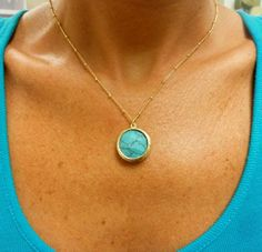 Turquoise Stone Pendant Necklace Pretty Clothes, Pretty Outfits, Turquoise Stone, Stone Pendants, Jewerly, Jewelry Making, Pendant Necklace, Detail, My Love