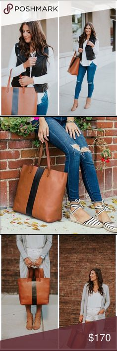 "Madewell Paintstripe Transport Leather Tote In keeping with Madewell's focus on clean, modern essentials, this spacious signature tote is done in rich leather and set off with a single bold stripe. Open top - Over-the-shoulder straps - Interior wall pocket - Approx. 14"" H x 14.5"" W x 6"" D - Approx. 7"" strap drop  Materials: Leather  Never used with tags! 14 1/2 ""W x 14""H x 6""D. (Interior capacity: extra-large.) 8"" strap drop. 1.7 lbs. Madewell Bags Totes"