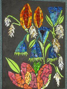 Mosaic by Kat Gottke , called Flower Arrangement No. 2