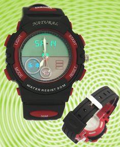 AW356A Дата сигнала тревоги BackLight Красный ободок воды Сопротивление Мальчик в девочке Аналоговые цифровые часы