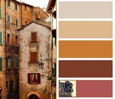 Choosing Tuscan Wall Colors   Tuscan decorating colors are warm, yellow-based colors that are nature ...