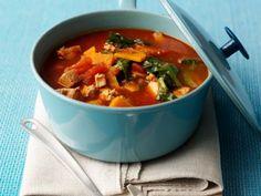 Tomaten-Hack-Suppe, Gulaschsuppe oder Gemüseeintopf.