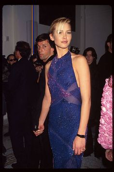 Model Valeria Mazza attends the grand opening of a new Versace Boutique on 5th Avenue October 26 1996 in New York City Gianni and Donatella Versace...