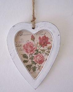 Heart shabby chic rustic French country decor idea