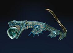 Art Nouveau Georges Fouquet tiara - 1900. Gold, silver, enamel, aquamarine - France. ALBION ART Collection.