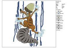 Ice Age--pattern--machine embroidery--Instant Download by tagi74 on Etsy