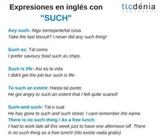 Expresiones en inglés con 'such'