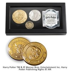 Buy Harry Potter Gringotts Bank Coin Collection Includes the Galleon, Sickle and the Knut today at IWOOT. We have great prices on gifts, homeware and gadgets with FREE delivery available. Harry Potter Memorabilia, Harry Potter Merchandise, Harry Potter Movies, Noble Collection Harry Potter, Les Gobelins, Coin Collecting, Display Case, Hogwarts, Shopping