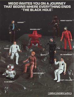 Vintage Mego 'The Black Hole' Action-Figures Vintage Toys 1970s, Retro Toys, Childhood Toys, Childhood Memories, Gi Joe, The Black Hole Movie, Old School Toys, Space Toys, Science Fiction Art