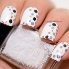 My Nail Polish Online - nail polish and nail art online Nails Only, Love Nails, Pretty Nails, Dot Nail Art, Polka Dot Nails, Polka Dots, Glam Nails, Diy Nails, Nail Polish Online