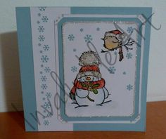 Homemade Christmas Card - Snowman from Penny Black - Jolly Friends