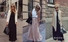 Уличная мода: Все секреты базового гардероба в модных образах фэшн-блоггера Linda Juhola Duster Coat, Skirts, Jackets, Fashion, Down Jackets, Moda, Fashion Styles, Skirt