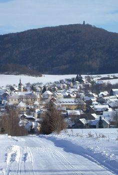 Louňovice pod Blaníkem and Velký Blaník hill in winter (Central Bohemia), Czechia Prague, Central Europe, Czech Republic, Hungary, North West, Austria, Poland, Roots, Germany