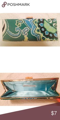 Banana Republic Silk Scarf Print Clutch EUC! Worn once or twice. Multi color silk paisley scarf print with light blue satin liner. Bamboo toggle closure. Banana Republic Bags Clutches & Wristlets
