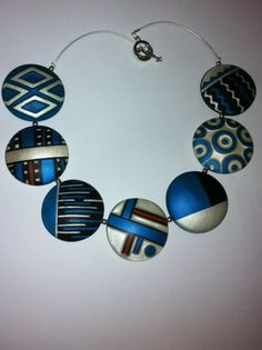 polymer clay Polymer Clay Necklace, Polymer Clay Pendant, Polymer Clay Beads, Polymer Clay Projects, Polymer Clay Creations, Winter Typ, Metal Clay Jewelry, Precious Metal Clay, Clay Design