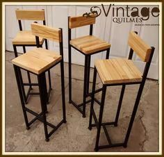 Mobilier Circa Who Code: 6379631274 Welded Furniture, Pipe Furniture, Steel Furniture, Industrial Furniture, Pallet Furniture, Furniture Design, Industrial Bar Stools, Wood Bar Stools, Bar Chairs