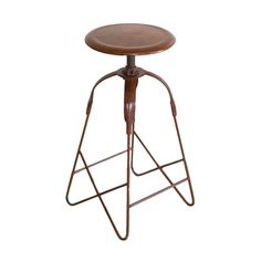 Stools don't need to be fussy. Keep them cool and old-fashioned like this Rustic Old School Stool