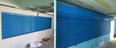 Installation of our RSG5700 1HR Fire Shutter to a kitchen area in Hampton Junior School.