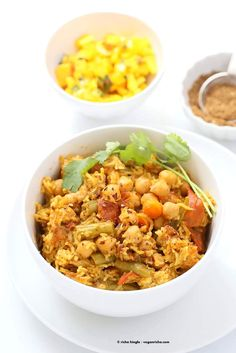 Chickpea Rice Pulao with Veggies and Pulao/Biryani Masala
