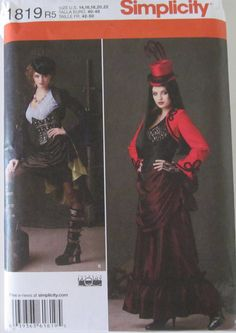 Simplicity 1819 Steampunk Dress Costume Pattern  Plus by AGypsyRed