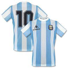 8d92f8f669f Camiseta Retro de Argentina 1986 Local + N° 10 (Maradona) Football Fashion