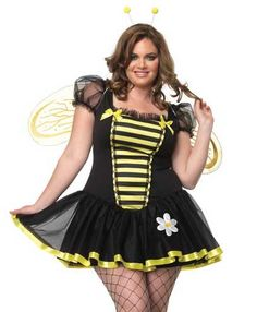 Leg Avenue Costumes 83645X - 3 PC. Plus Size Daisy Bee Costume (Incl. Tutu Dress, Wings