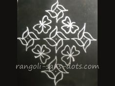kolam with dots Indian Rangoli, Kolam Rangoli, Rangoli With Dots, Simple Rangoli, Beautiful Rangoli Designs, Kolam Designs, Colored Sand, Floor Art, Floor Patterns