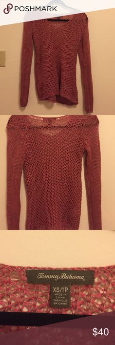 Tommy Bahama, knit pink sweater Tommy Bahama, knit pink sweater. Size XS. Make me a deal :) Tommy Bahama Sweaters