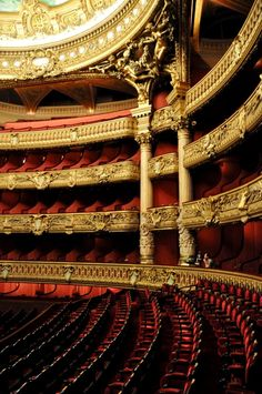 Inside the Opera House - Paris, France