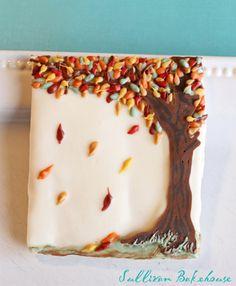 Autumn Tree Cookie by SullivanBakehouse on Etsy, $24.00