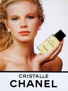 LAURENCE VANHAEVERBEKE Cristalle by Chanel Ad 1989 VS scan