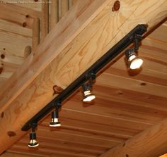 Rustic Log Home Lighting Bargains. Hallway LightingVaulted Ceiling LightingTrack ... & track lighting installed to wash the vaulted ceiling with light ... azcodes.com