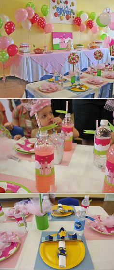 i love the idea of hosting a birthday party at a place like the little gym, but really decorating it up . . .
