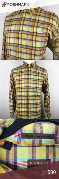 "Robert Talbott Casual Button Up Shirt Mens XL Brand: Robert Talbott   Detail: This is a Robert Talbott Casual Butten Down Shirt. Very Soft & Great for Spring.  Condition:  This item is in Great Pre-Owned Condition! No Major Flaws (No Stains, Rips or Tears).   Material: 100% Cotton  Care: Machine Washable  Size: XL Measurements: Chest: 27"" Length: 32"" Shoulder: 23"" Sleeve: 23"" 💥Top Rated Seller! 💥Suggested User!  💥10% Discount on Bundles! 💥Super Fast Shipping! Robert Talbott Shirts Casual…"
