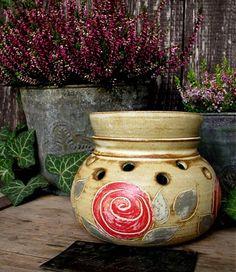 Aromalampa s růží by caldero - SAShE.sk - Handmade Keramika Home Decor, Cauldron, Decoration Home, Room Decor, Home Interior Design, Home Decoration, Interior Design