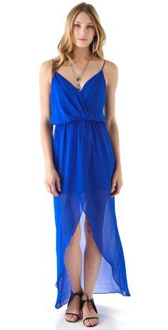 Jones Fishtail Wrap Gown by silviacristina.tavitian