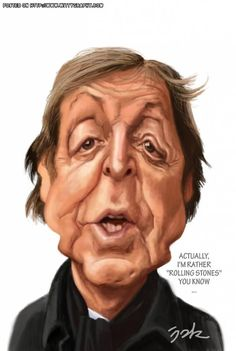 Sir Paul McCartney FOLLOW THIS BOARD FOR GREAT CARICATURES OR ANY OF OUR OTHER CARICATURE BOARDS. WE HAVE A FEW SEPERATED BY THINGS LIKE ACTORS, MUSICIANS, POLITICS. SPORTS AND MORE...CHECK 'EM OUT!! Anthony Contorno Sr