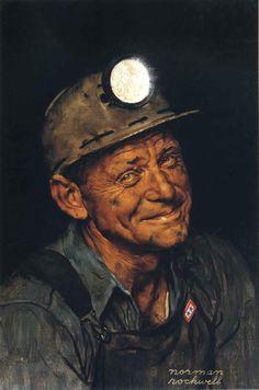 Norman Rockwell Portrait Of A Coal Miner