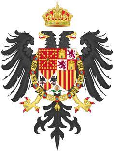 Coat of arms of Charles I of #Spain (Charles V as Holy Roman Emperor and IV of #Navarre) Escudo de Carlos I, rey de #España, Carlos V como Emperador Romano Germánico y IV de #Navarra.