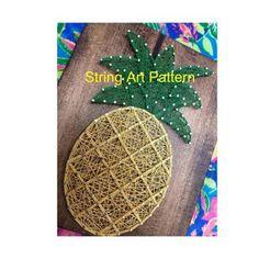 Deer Head String Art Template Pattern Crafting Design | Etsy String Art Templates, String Art Patterns, Anchor String Art, Dark Wood Stain, Custom Wall, Art Pieces, Christmas Ornaments, Wall Art, Holiday Decor