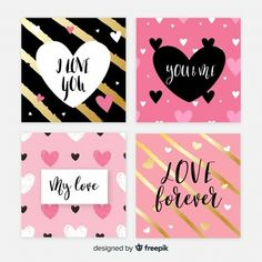 Valentine's day cards set Cute Cards, Diy Cards, Arrow Words, Happy Birthday Posters, Paris Illustration, Cute Box, Handmade Birthday Cards, Valentine Day Cards, Collage Sheet
