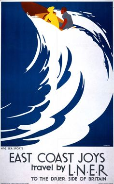Speed Boat -  L.N.E.R. Poster, Tom Purvis
