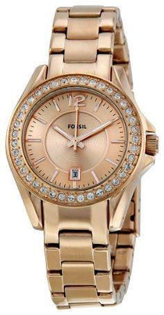 Fossil Women's ES2889 Riley Rose Gold Dial Watch « Holiday Adds