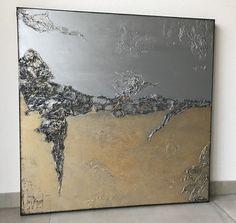"""Freue mich, euch diesen Artikel aus meinem Shop bei #etsy vorzustellen: VICTORIA XL Acryl Gemälde """"Gold Ocean"""" 90x90x3,5cm Victoria, Artwork, Painting, Etsy, Paint, Photomontage, Simple Paintings, Craft Gifts, Pretty Pictures"""