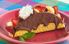 Mucho Choco Tacos ~ Mexican-themed dessert!