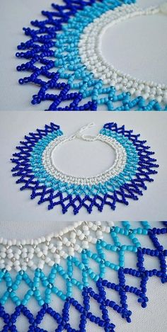 Best 12 This beaded collar necklace – made and designed in Cape Town, South Africa – was will turn heads in admiration as it enhances your outfit. Seed Bead Jewelry, Bead Jewellery, Craft Jewelry, Jewelry Necklaces, Beading Projects, Beading Tutorials, Making Bracelets With Beads, Beaded Bracelets, Embroidery Bracelets