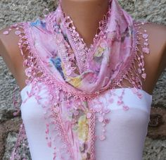 ON SALE - Spring Scarf Heart Scarf  Floral Scarf Shawl Scarf  Fashion Scarves Cotton  Scarf  Cowl Scarf  For Her Women's Fashion Accessories on Etsy, $14.40