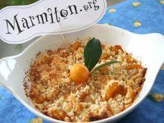 crumble aux mirabelles de Lorraine - Recette de cuisine Marmiton : une recette