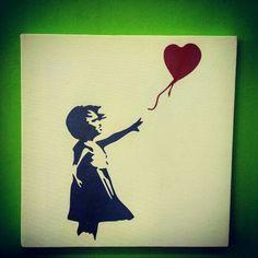 Tela pittorica Balloon Girl Banksy (stampa canvas)  20x20cm  #plotter #customization #cool #canvas #tela #TagsForLikesApp #instagood  #smile #follow #cute #photooftheday #tbt #followme #girl #beautiful #happy #picoftheday #instadaily  #swag #amazing #TFLers #fashion #igers  #instalike #bestoftheday #smile #like4like  #instamood #roma #bansky #balloongirl